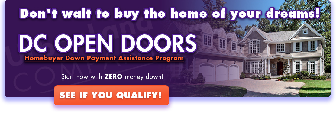 DC OPEN DOORS - Homebuyer Down Payment Assistance Program