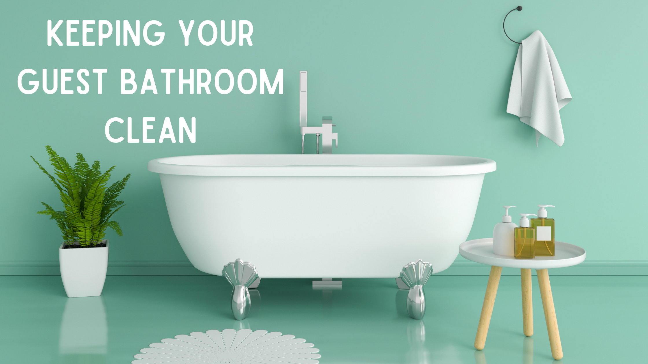 cleaning bathrooms