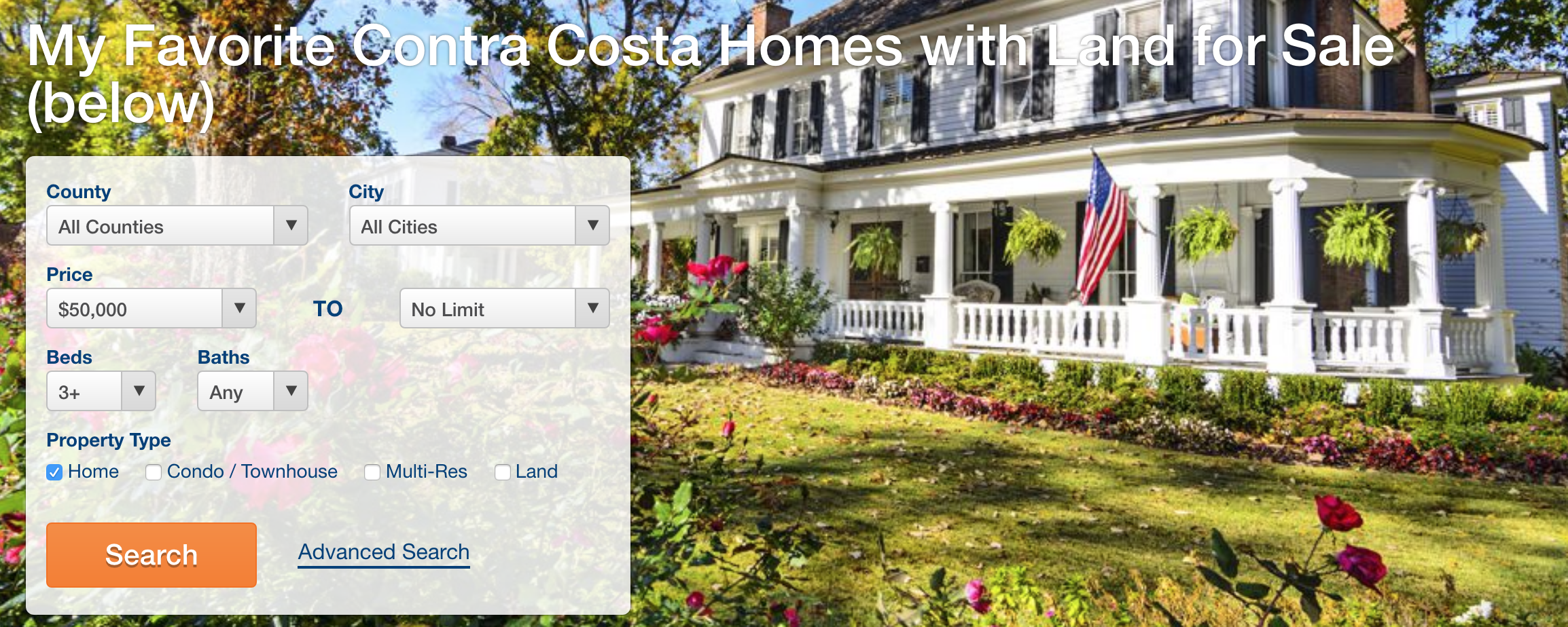 My Favorite Contra Costa Homes with Land for Sale