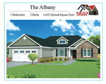 The Albany floor plan Lake View New Bern NC