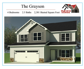 The Grayson home plan Lake ViewNew Bern NC