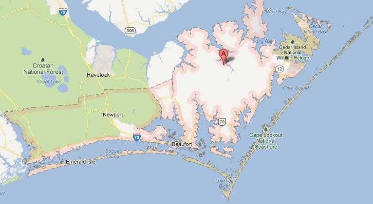 carteret county nc map