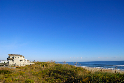 looking down beach in indian beach nc real estate