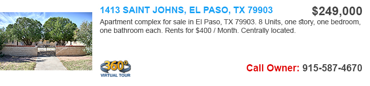 el paso apartments for sale