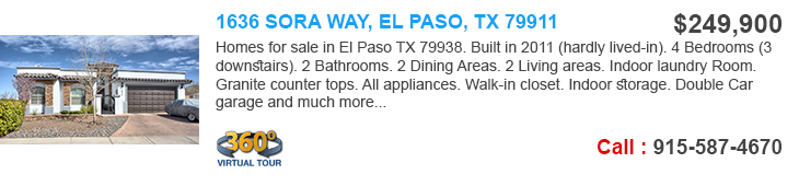 el paso homes for sale