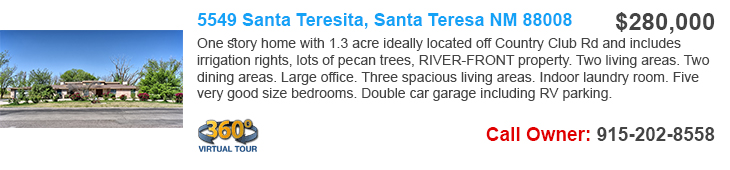 homes for sale in santa teresa