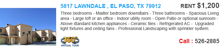 el paso homes for rent