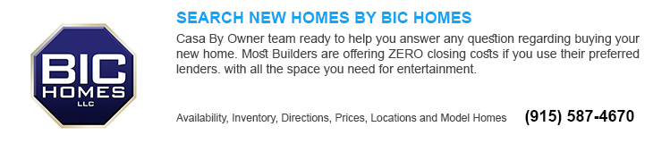new homes for sale in El Paso tx by Bic homes builders