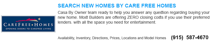 new homes for sale in El Paso tx by carefree home builders