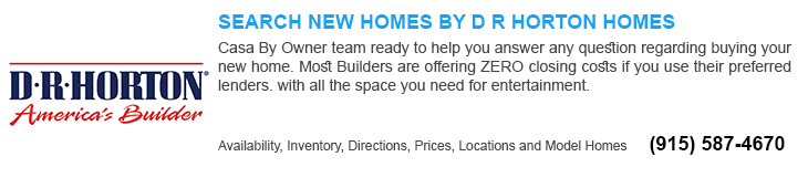 new homes for sale in El Paso tx by dr Horton builders