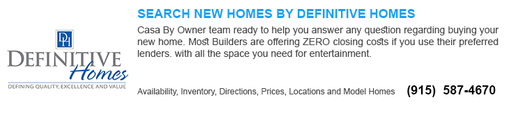 new homes for sale in El Paso tx by definitive home builders