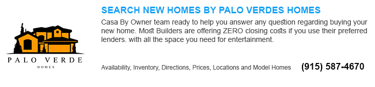 new homes for sale in El Paso tx by palo verde home builders
