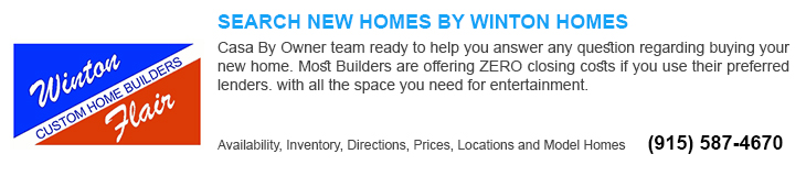 new homes for sale in El Paso tx by winton home builders