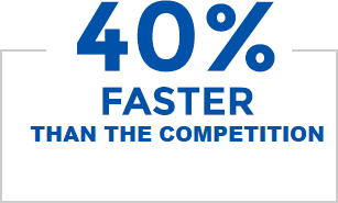 40% Faster