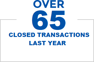 Over 65 Closed Transactions Last Year