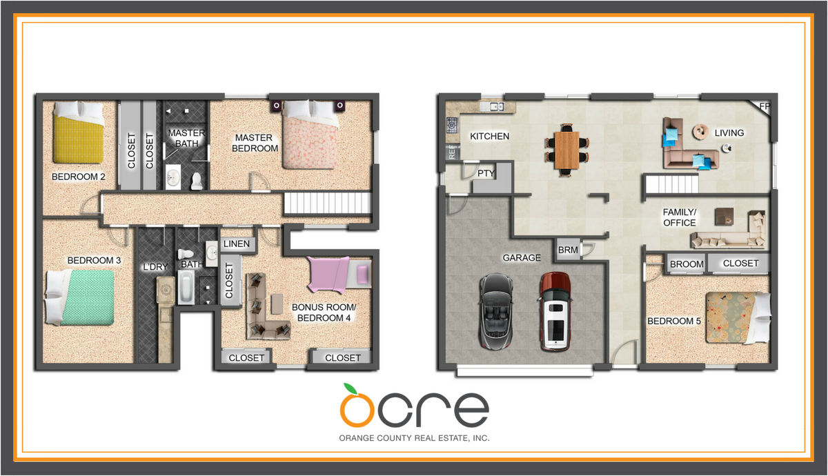 Floor Plan done by Orange County Real Estate, inc