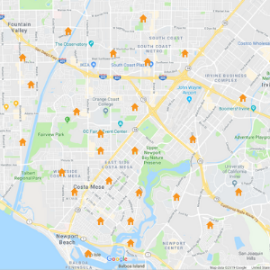Search Orange County Real Estate by Map