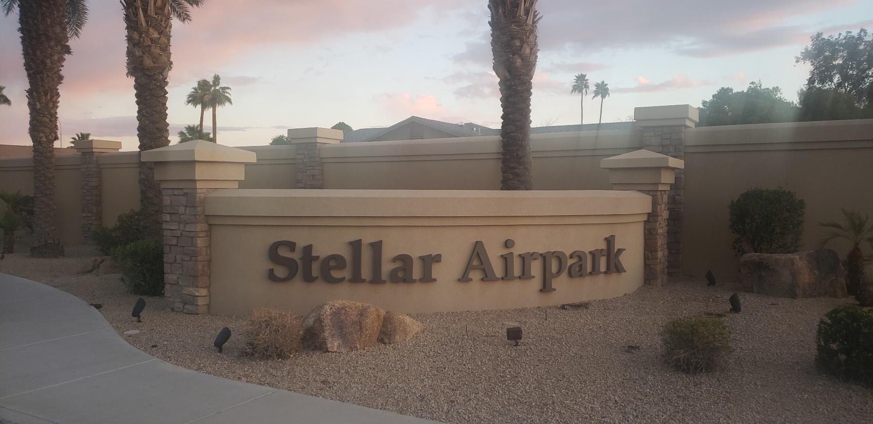 Stellar Airpark Sign