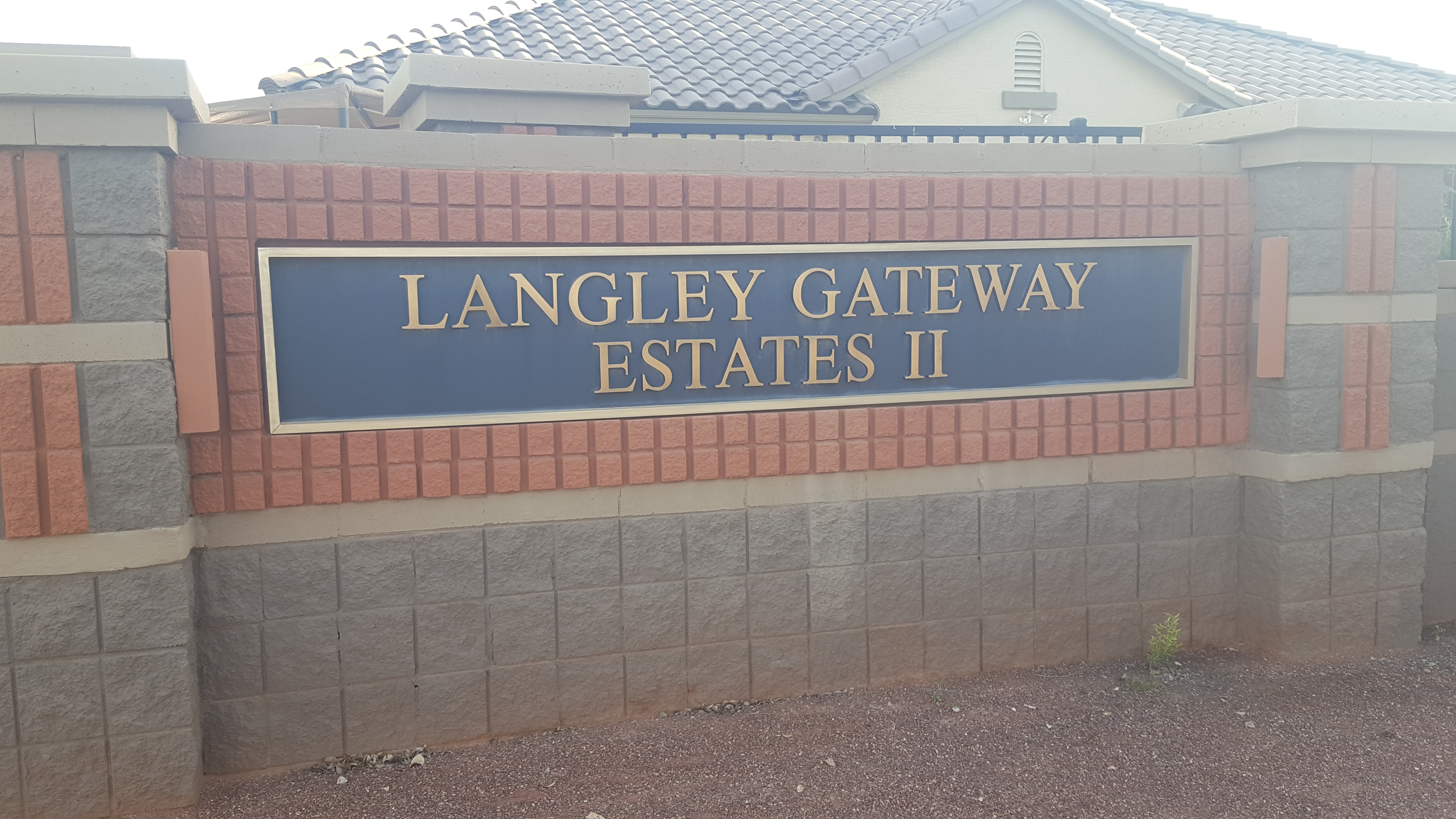 Langley Estates Sign