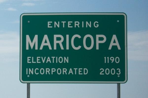 Maricopa City Sign
