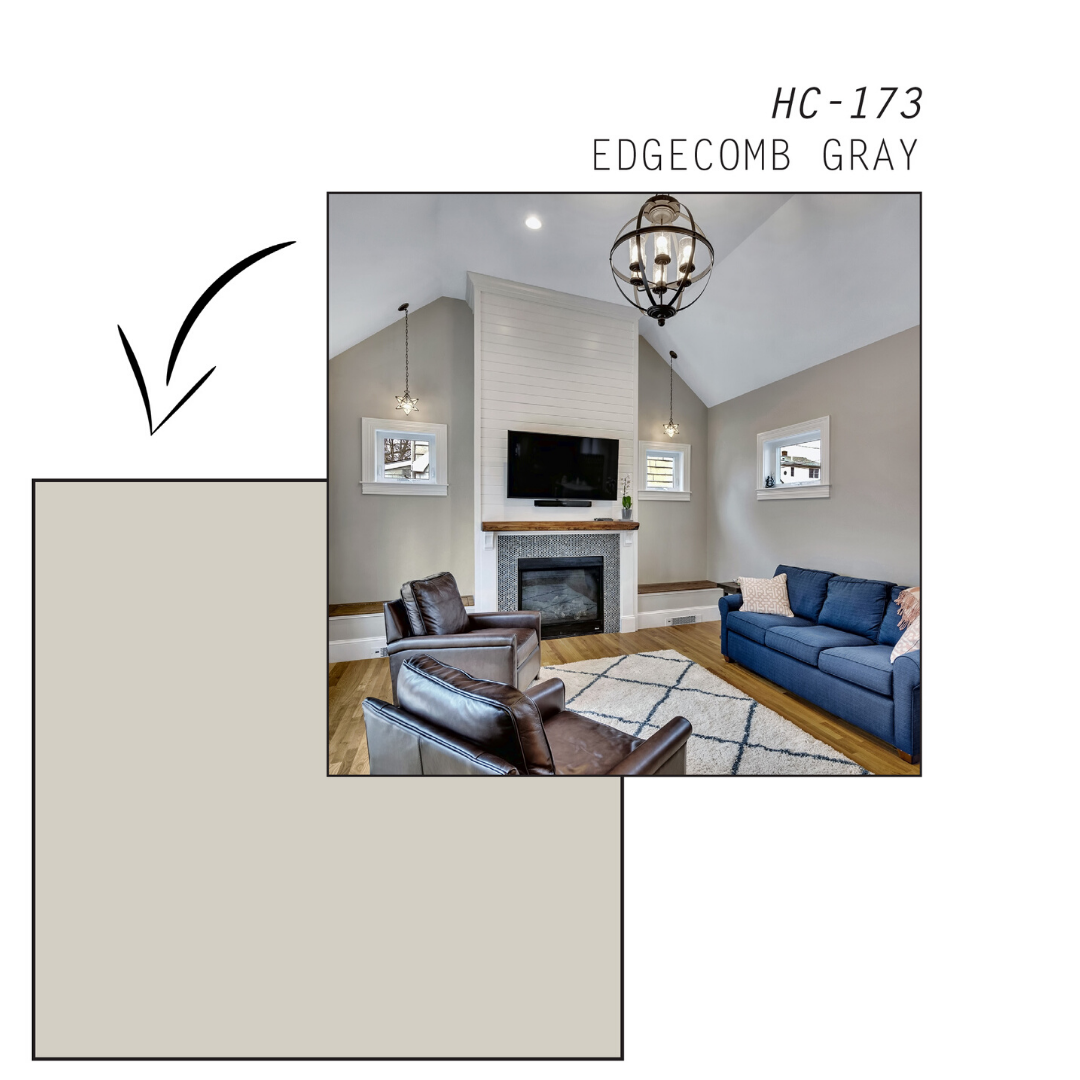 Accent Wall With Edgecomb Gray: The Best Benjamin Moore Paint Colors