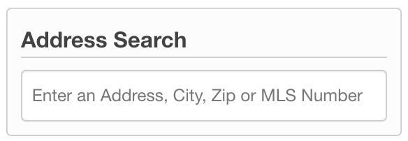 Instant Las Vegas MLS Address Search Tool