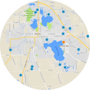 Milford Indiana homes for sale Interactive Map Search