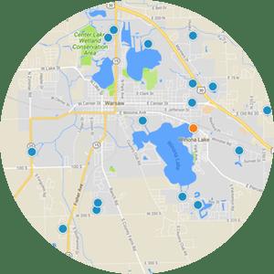 Winona Lake Interactive Map Home Search