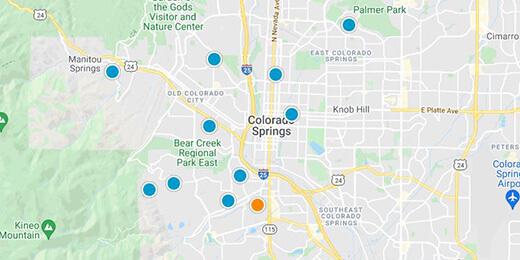 Colorado Springs Real Estate Map Search