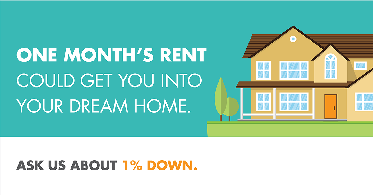 One Months Rent Could Get YOU in a House