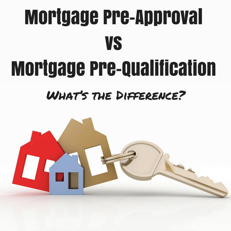 What's the difference between a mortgage pre-approval and a mortgage pre-qualification?