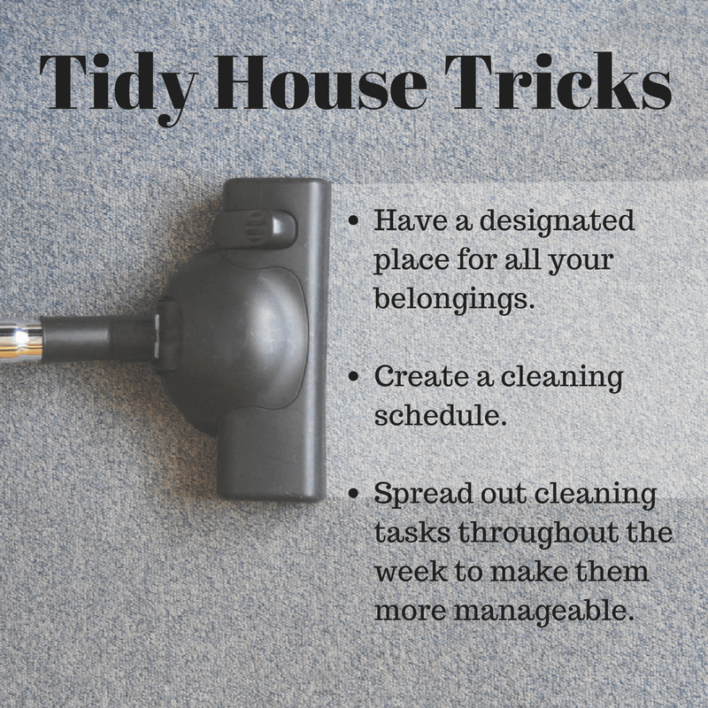 Cleaning hacks and tidy house tricks