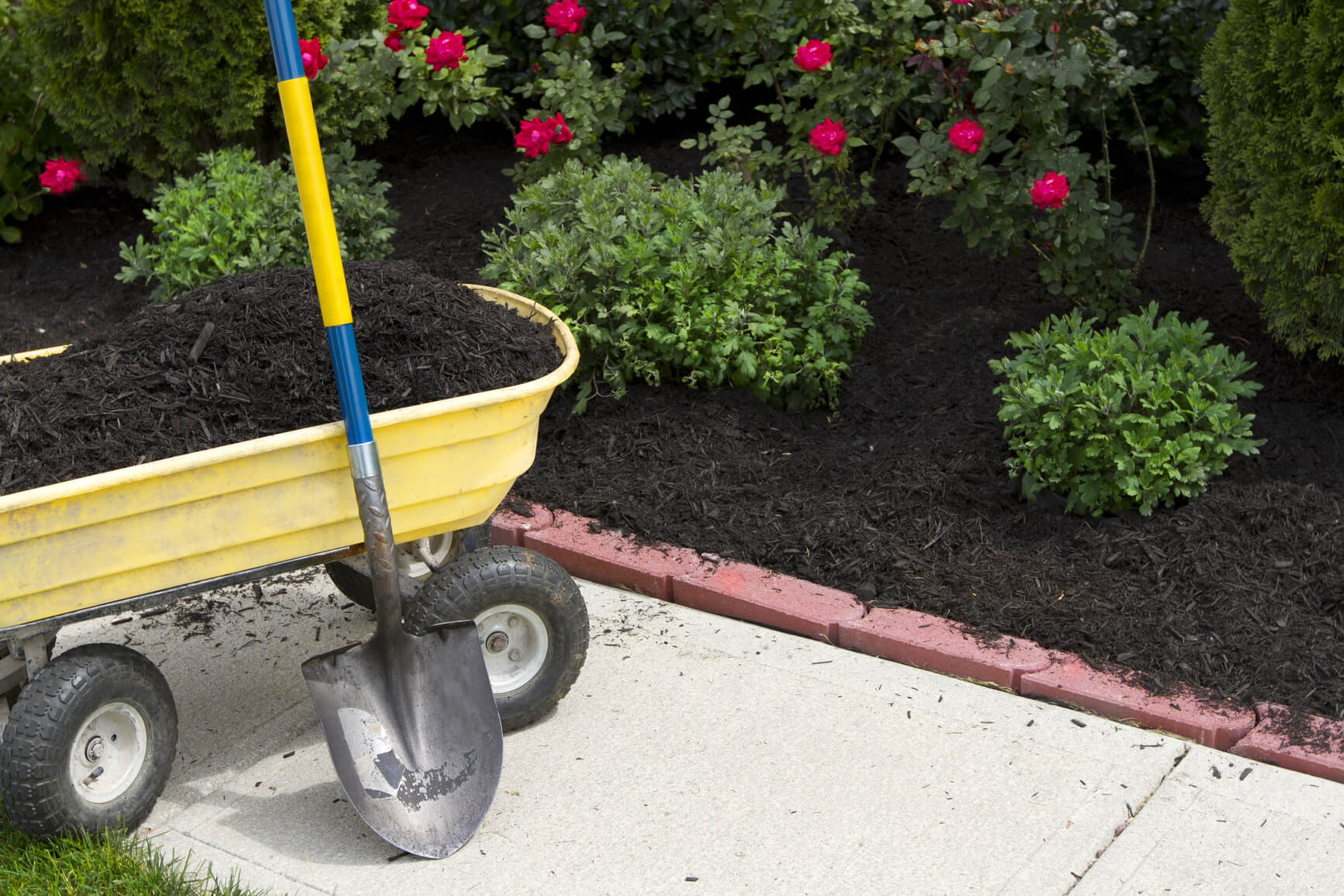 Budget-Friendly Curb Appeal Ideas: Mulch Flowerbeds