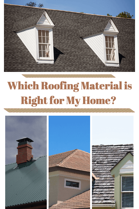 Roofing Material: Which one is right for me?