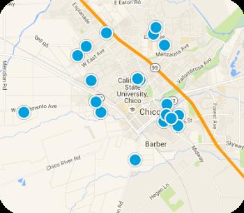 Chico CA Real Estate Map