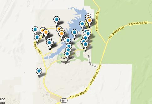 Lake Las Vegas Map