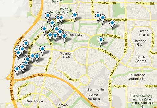 Sun City Summerlin Map