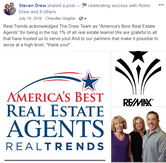 The Drew Team top 1% America's Best Agent