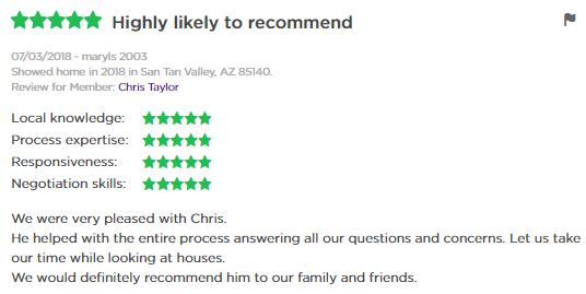 5 star review Chris, The Drew Team