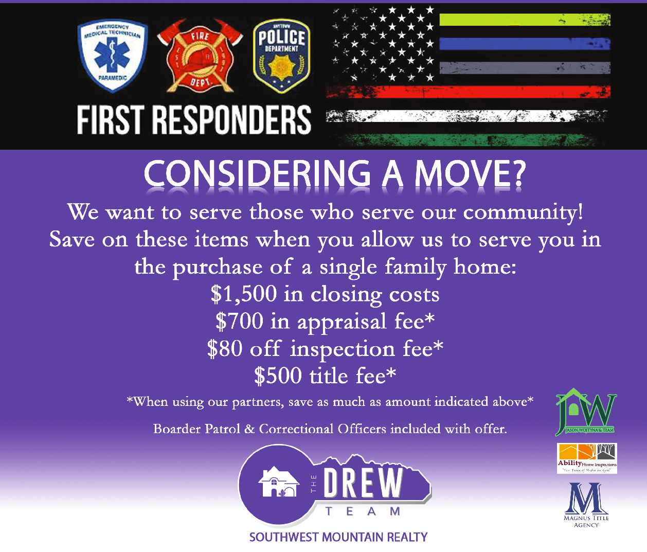The Drew Team Serving First Responders and save them money