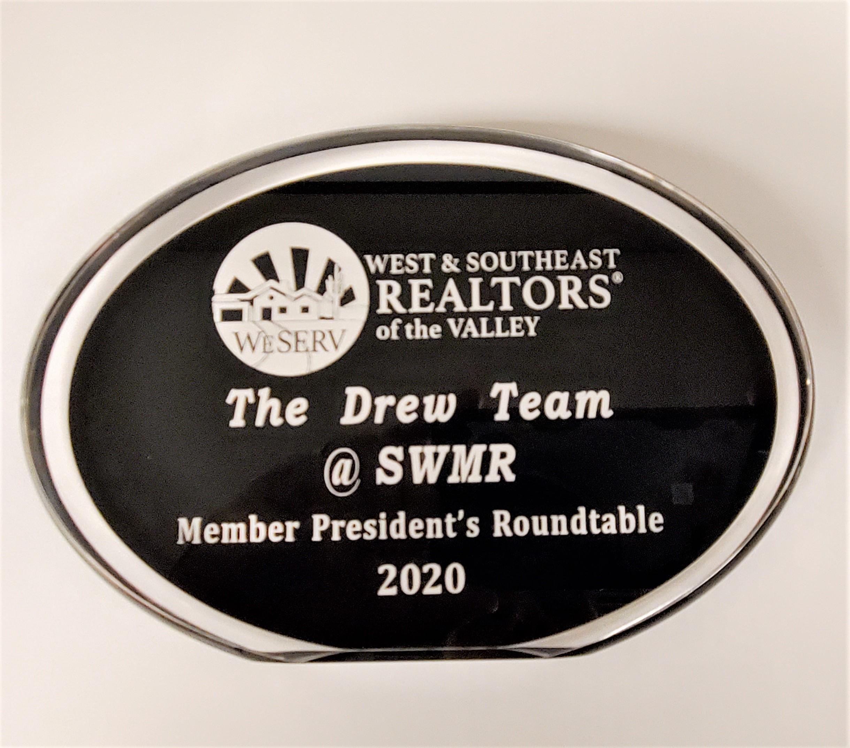 The Drew Team Presidents Roundtable Award 2020 WeServ