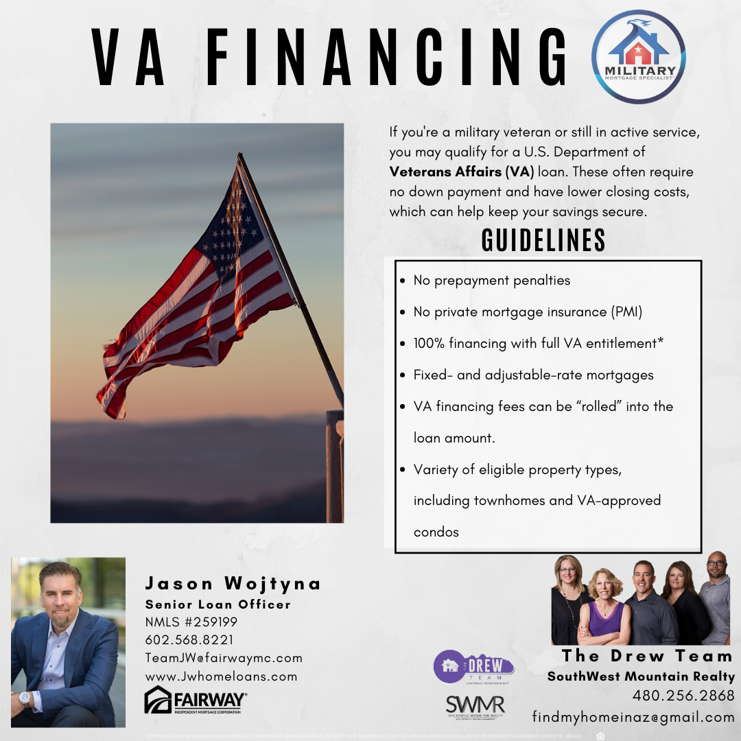 Veterans VA Loan Benefits and Advantages The Drew Team Arizona