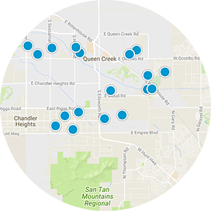 Queen Creek Ranchettes Real Estate Map Search