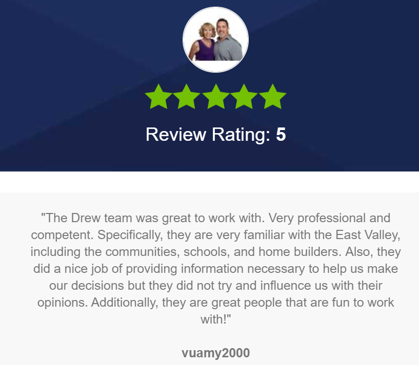 The Drew Team 5 Star Review