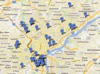 Philadelphia Interactive Map Home Search