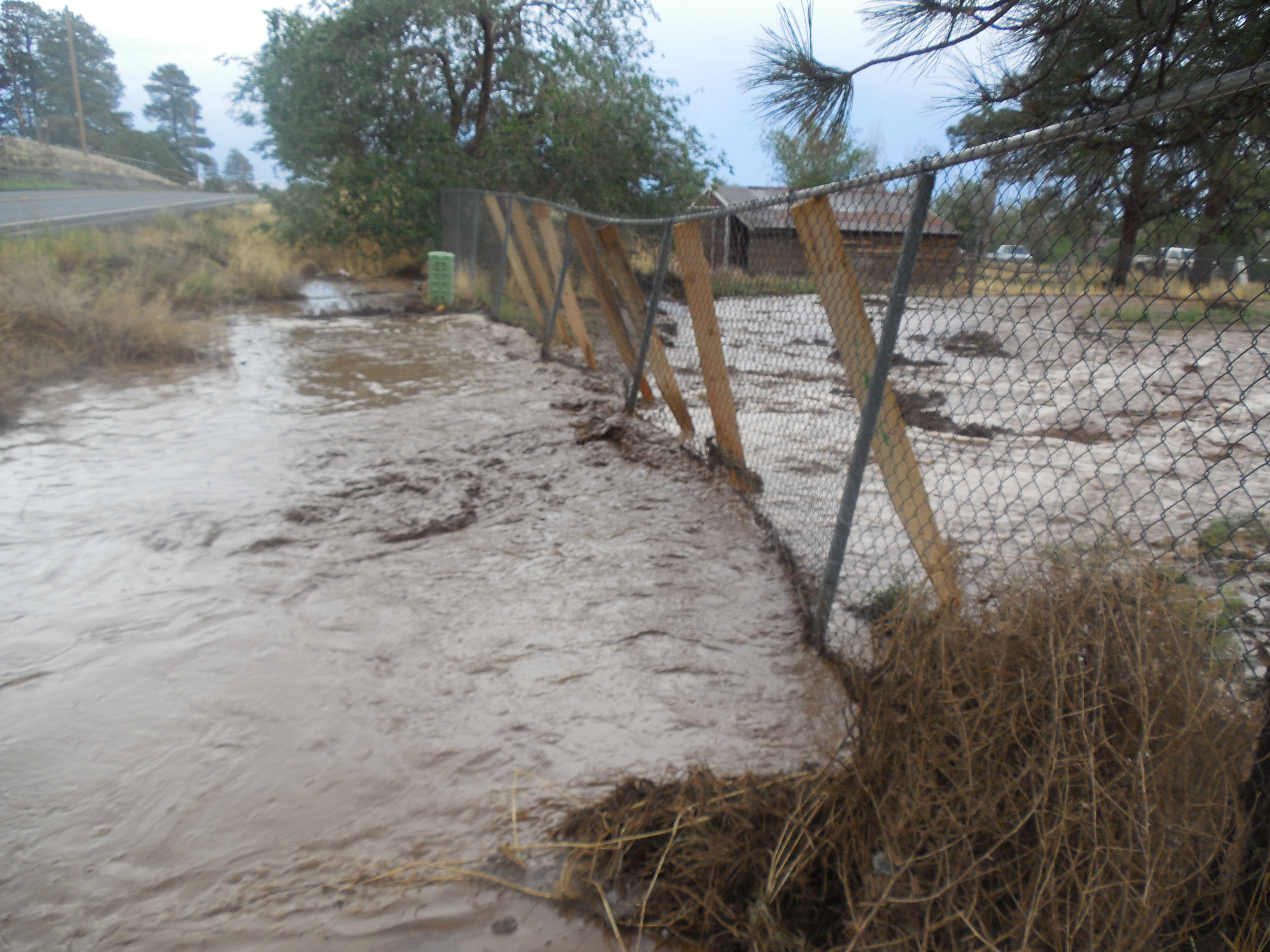 Post Schultz Fire Flooding - Going Toward Homes
