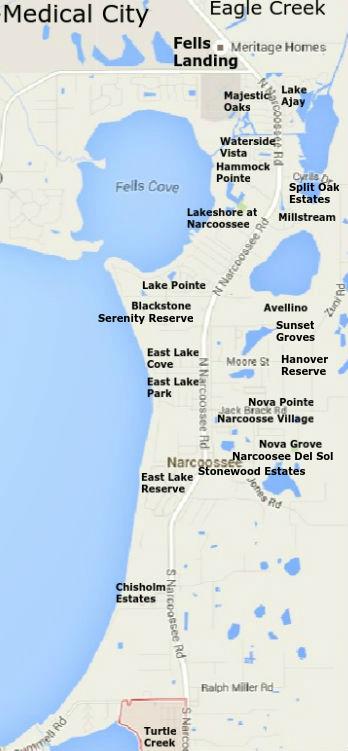 lake nona florida map Narcoossee Homes For Sale Narcoossee Fl Real Estate lake nona florida map