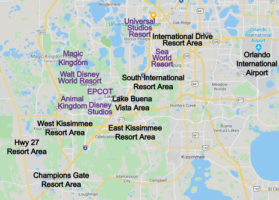 Orlando Short Term Vacation Rental Zone Map