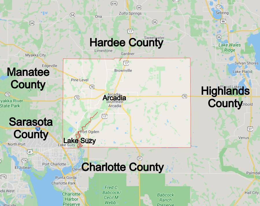 Desoto County Florida Community Map