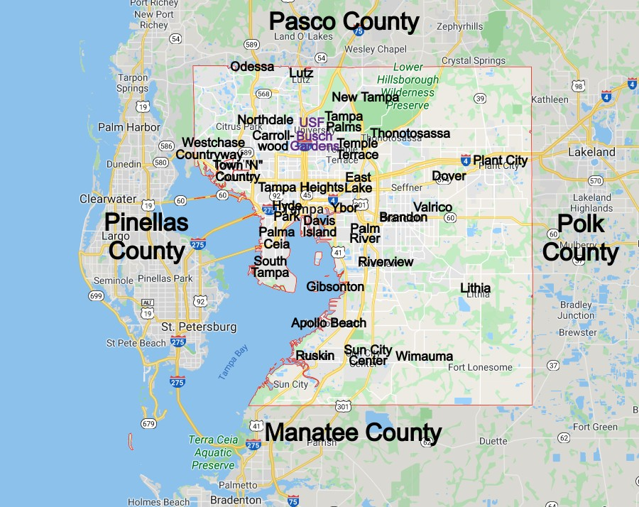 Hillsborough County Community Map